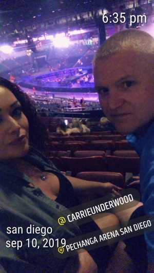 Richard attended Carrie Underwood - the Cry Pretty Tour on Sep 10th 2019 via VetTix