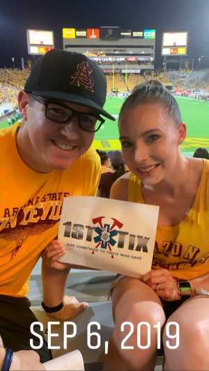 Heidi attended Arizona State Sun Devils vs. Sacramento State - NCAA Football on Sep 6th 2019 via VetTix