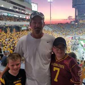 Craig attended Arizona State Sun Devils vs. Sacramento State - NCAA Football on Sep 6th 2019 via VetTix