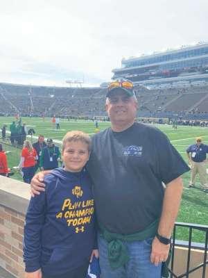 Lee attended University of Notre Dame Fightin Irish vs. Bowling Green - NCAA Football on Oct 5th 2019 via VetTix