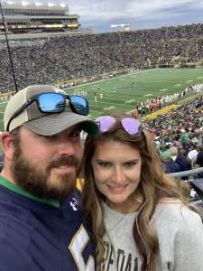 Jason attended University of Notre Dame Fightin Irish vs. Bowling Green - NCAA Football on Oct 5th 2019 via VetTix