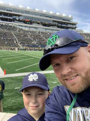 NDFan attended University of Notre Dame Fightin Irish vs. Bowling Green - NCAA Football on Oct 5th 2019 via VetTix