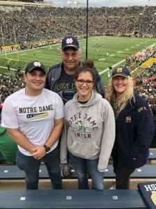 Randy attended University of Notre Dame Fightin Irish vs. Bowling Green - NCAA Football on Oct 5th 2019 via VetTix