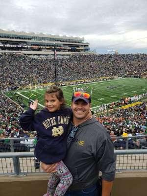 David attended University of Notre Dame Fightin Irish vs. Bowling Green - NCAA Football on Oct 5th 2019 via VetTix