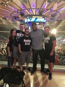 James attended WWE Smackdown Live on Sep 10th 2019 via VetTix