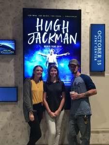Karen attended Hugh Jackman: the Man. The Music. The Show. on Oct 15th 2019 via VetTix
