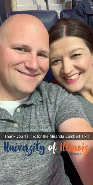 Steve attended Miranda Lambert at State Farm Center on Oct 10th 2019 via VetTix