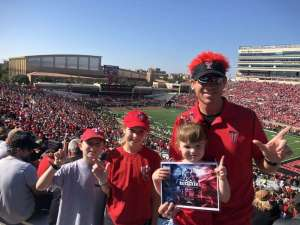 Rodney attended Texas Tech vs. Oklahoma State - NCAA Football on Oct 5th 2019 via VetTix