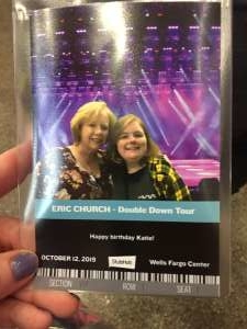 Michele attended Eric Church: Double Down Tour - Saturday on Oct 12th 2019 via VetTix