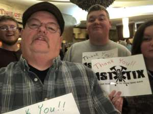Timothy attended Staind on Oct 6th 2019 via VetTix