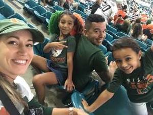 Marciel attended Miami Hurricanes vs. Virginia - NCAA Football on Oct 11th 2019 via VetTix