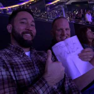 Douglas attended Carrie Underwood: the Cry Pretty Tour 360 on Oct 5th 2019 via VetTix