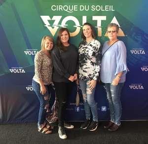 Tonya attended Cirque Du Soleil - Volta - 5pm Show on Oct 14th 2019 via VetTix