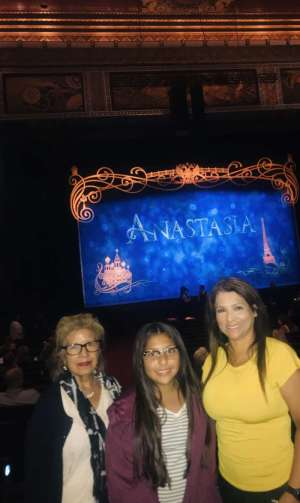 Rosemary attended Anastasia - Hollywood Pantages Theatre on Oct 8th 2019 via VetTix
