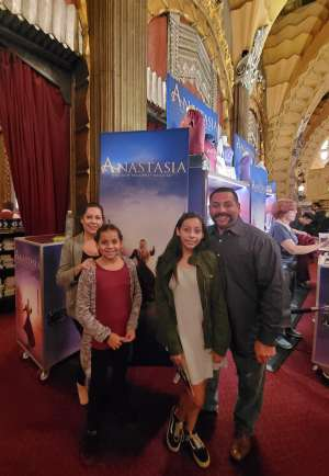 Luis attended Anastasia - Hollywood Pantages Theatre on Oct 9th 2019 via VetTix