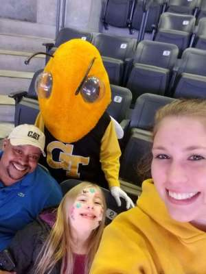 Kasey attended Georgia Tech Yellow Jackets vs. Nebraska Cornhuskers - NCAA Men's Basketball on Dec 4th 2019 via VetTix
