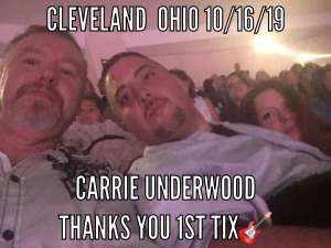 John attended Carrie Underwood: the Cry Pretty Tour 360 on Oct 16th 2019 via VetTix