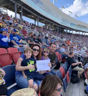 Mike and family attended Bluegreen Vacations 500 NASCAR Semi-final Race on Nov 10th 2019 via VetTix