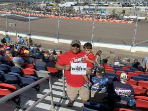 David attended Bluegreen Vacations 500 NASCAR Semi-final Race on Nov 10th 2019 via VetTix