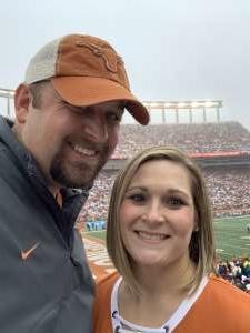 Christopher attended University of Texas Longhorns vs. Texas Tech Red Raiders - NCAA Football on Nov 29th 2019 via VetTix