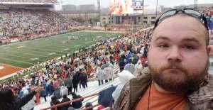 Sean attended University of Texas Longhorns vs. Texas Tech Red Raiders - NCAA Football on Nov 29th 2019 via VetTix