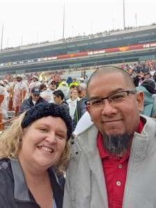 Brandy attended University of Texas Longhorns vs. Texas Tech Red Raiders - NCAA Football on Nov 29th 2019 via VetTix