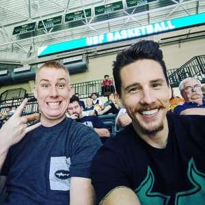 Josh attended University of South Florida Bulls vs. UCONN Huskies - NCAA Men's Basketball on Jan 4th 2020 via VetTix