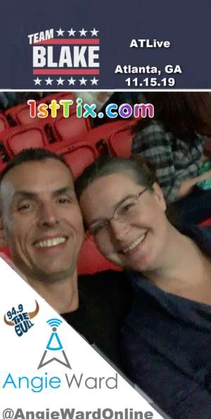 Cass attended Atlive With Keith Urban and Blake Shelton on Nov 15th 2019 via VetTix