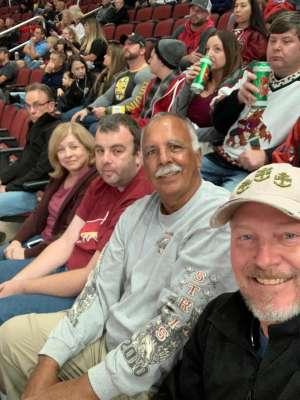 Steve attended Arizona Coyotes vs. Columbus Blue Jackets - NHL on Nov 7th 2019 via VetTix