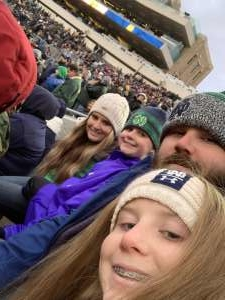 Jason attended University of Notre Dame Fighting Irish vs. Boston College - NCAA Football on Nov 23rd 2019 via VetTix