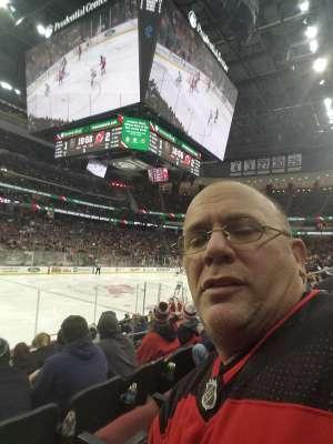 Charles attended New Jersey Devils vs. Vegas Golden Knights NHL on Dec 3rd 2019 via VetTix