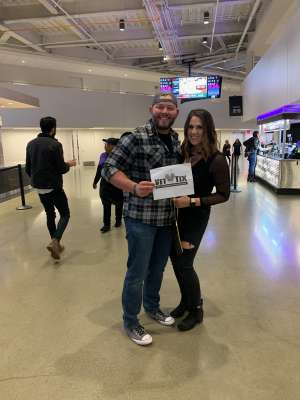 Hans attended The Chainsmokers/5 Seconds of Summer/lennon Stella: World War Joy Tour on Dec 1st 2019 via VetTix
