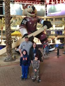 Charles attended Arizona Coyotes vs. Anaheim Ducks - NHL on Nov 27th 2019 via VetTix