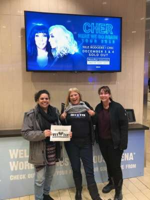 Karen attended Cher: Here We Go Again Tour on Dec 4th 2019 via VetTix