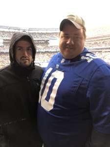 Patrick attended New York Giants vs. Green Bay Packers - NFL on Dec 1st 2019 via VetTix