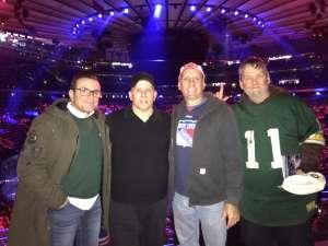 Thomas attended New York Rangers vs. Vegas Golden Knights - NHL on Dec 2nd 2019 via VetTix