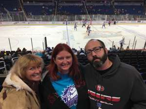 Crystal attended Orlando Solar Bears vs. Jacksonville Icemen - ECHL on Dec 5th 2019 via VetTix