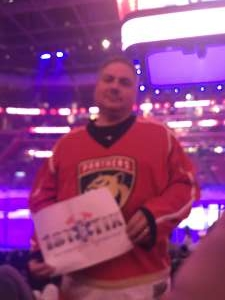 Jody attended Florida Panthers vs. Minnesota Wild - NHL on Dec 3rd 2019 via VetTix
