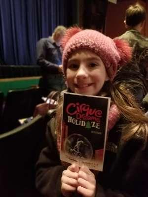 Lauren attended Cirque Dreams Holidaze (touring) on Dec 6th 2019 via VetTix