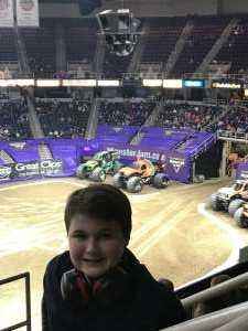 Daniel attended Monster Jam on Jan 11th 2020 via VetTix