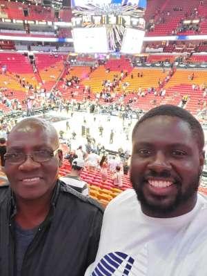 Cynthia attended Miami Heat vs. Washington Wizards - NHL on Dec 6th 2019 via VetTix