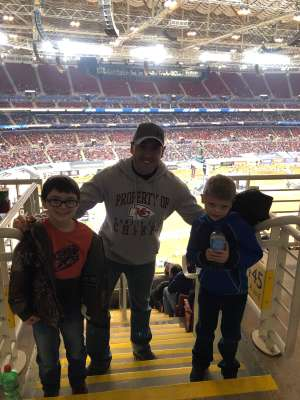Nathan attended Monster Energy Supercross on Jan 11th 2020 via VetTix