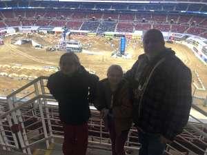 Jenny attended Monster Energy Supercross on Jan 11th 2020 via VetTix