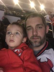 Russell attended New Jersey Devils vs. Colorado Avalanche on Jan 4th 2020 via VetTix