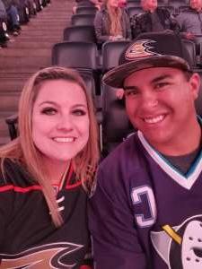 Danielle attended Anaheim Ducks vs. Nashville Predators - NHL on Jan 5th 2020 via VetTix