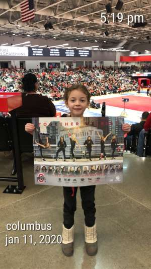 Casie attended Ohio State Buckeyes Women's Gymnastics vs. North Carolina State Gymnastics on Jan 11th 2020 via VetTix