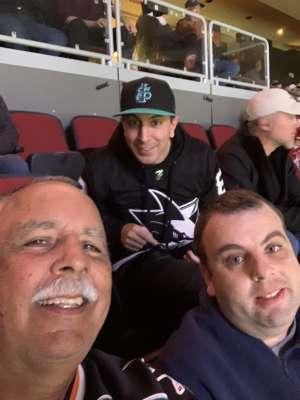 Steve attended Arizona Coyotes vs. San Jose Sharks - NHL on Jan 14th 2020 via VetTix