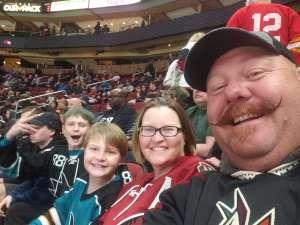 Shon attended Arizona Coyotes vs. San Jose Sharks - NHL on Jan 14th 2020 via VetTix