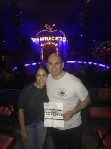 James attended Big Apple Circus - Lincoln Center on Jan 11th 2020 via VetTix