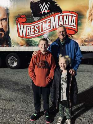 Jonathan attended WWE Friday Night Smackdown on Jan 17th 2020 via VetTix